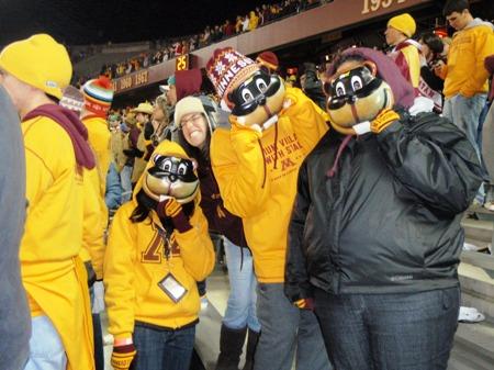 Trisha's Friends with Goldy Masks